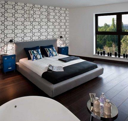 Sypialnia, loft pokazowy Woronicza Qbik