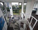 Wnętrze w stylu industrialnym, loft pokazowy Woronicza Qbik