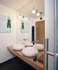 Łazienka, loft pokazowy Woronicza Qbik