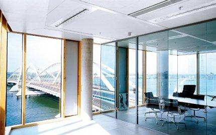Biuro, gabinet indywidualny, sufit podwieszany