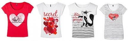 Koszulki, kolekcja na Walentynki od Reserved
