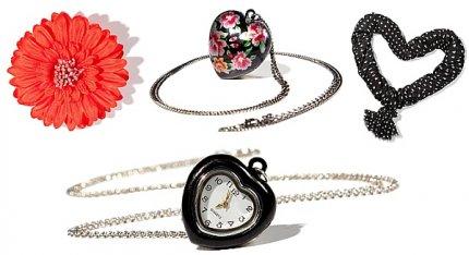 Akcesoria, biżuteria i dodatki na Walentynki