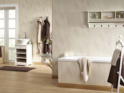 Łazienka, panele ścienne imitujące kamień naturalny