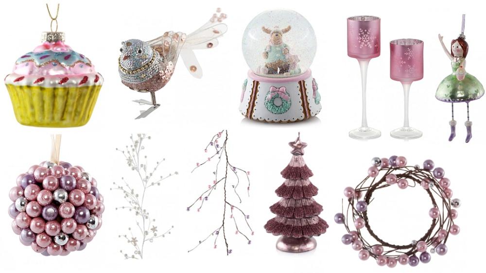Dekoracje świąteczne w kolorach pastelowych