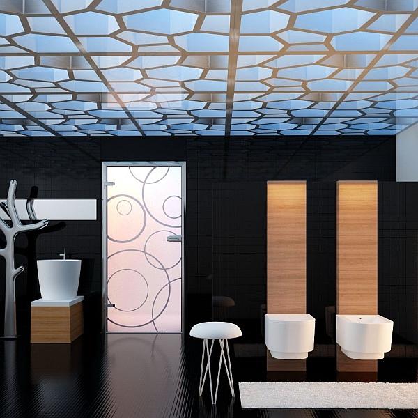 Galeria łazienka Drzwi Szklane Amber łazienki