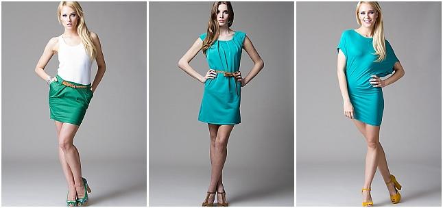 Moda w kolorze ultramaryna i akwamaryna