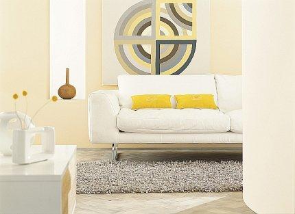 Salon pomalowany tradycyjną farbą do wnętrz