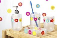 Akcesoria łazienkowe w kwiatki