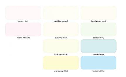Paleta kolorów Światło i Przestrzeń