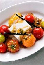 Pomidory z karmelem i lodami waniliowymi