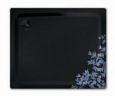 Czarny brodzik z ornamentem kwiatowym