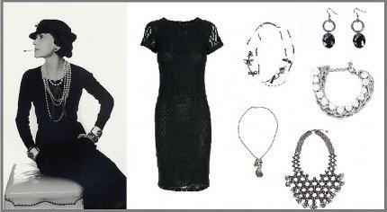 Mała czarna, stylizacja Coco Chanel