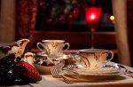 Dekorowanie stołu, naczynia z porcelany Kolekcja Rococo