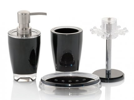 Akcesoria łazienkowe Basic w kolorze czarnym