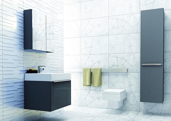 Łazienka, meble łazienkowe San Remo Antracyt