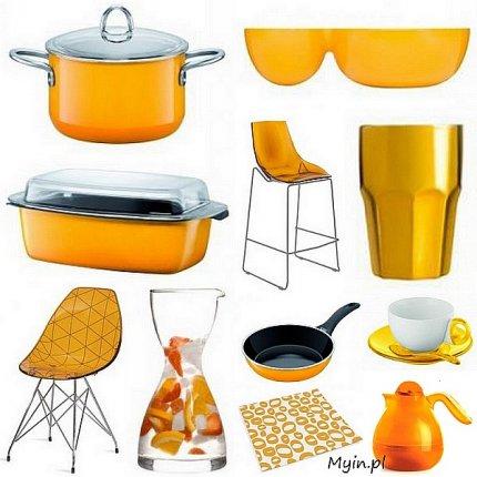 Akcesoria kuchenne w kolorze żółtym