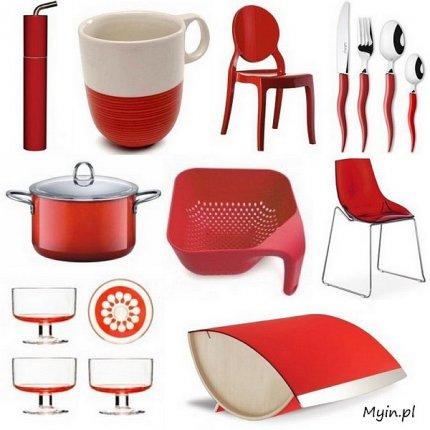 Akcesoria kuchenne w kolorze czerwonym