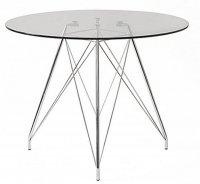 Stół okrągły, szklany Dal Segno