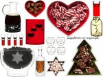 Dekoracje świąteczne, naczynia, świeczniki