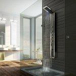 Łazienka na poddaszu, panel prysznicowy Industrio