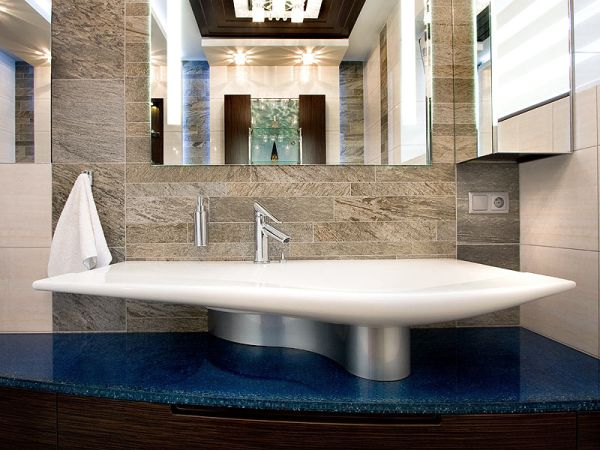 Geometria i szkło w nowoczesnej łazience