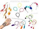 Biżuteria letnia na festiwal