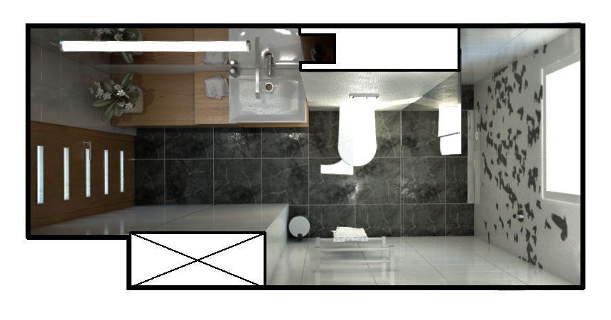 łazienka Minimalistyczna Wizualizacja Stylownikcom