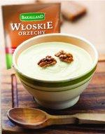 Zupa warzywna z serem i orzechami