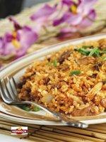 ryż z kurczakiem i brzoskwiniami