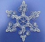 śnieżynka kartka