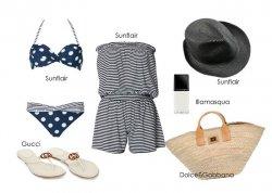 Look plażowy na trzy sposoby - styl classic
