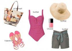 Look plażowy na trzy sposoby - styl girlie