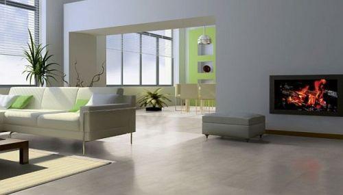 Salon Panele Podłogowe Imitujące Płytki Ceramiczne Softsilent