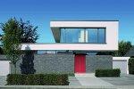 Budynek jednorodzinny wyposażony w drzwi Schüco ADS oraz ślusarkę okienną serii Schüco AWS