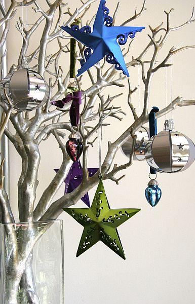 Galeria Gałązki świąteczne Srebrny Dekoracje