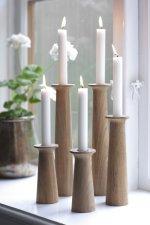 Świeczniki z drewna teakowego Dania