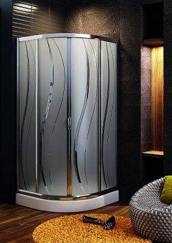 Nowe wzory szkła w kabinach Aquaform
