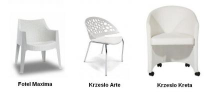 Fotel w bieli