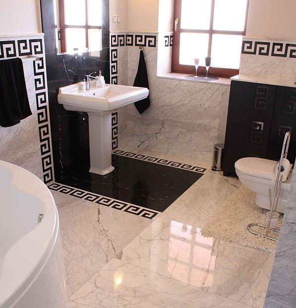 Galeria Marmur Jak Perły I Mała Czarna łazienki