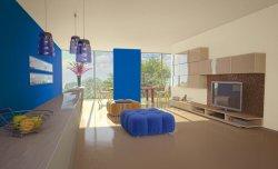 Modny salon w kolorze blue jeans