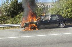 Pożar w samochodzie