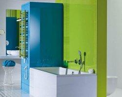 Soczysta i morska, czyli łazienka z nutą fluo