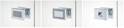 Uchwyty kabin prysznicowych z kryształkami Swarovskiego